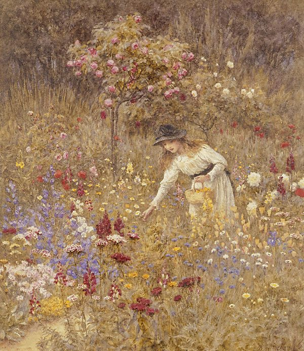 Artist : Helen Allingham (England, b.1848, d.1926) Title : Date : circa 1889 Medium Description: watercolour Dimensions : Credit Line : Purchased 1889 Image Credit Line : Accession Number : 5925